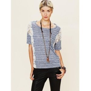 We the Free S battenberg striped lace side top